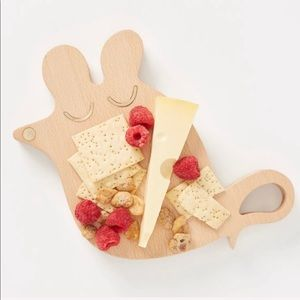 Anthropologie Mouse Wood & Brass Cheese Board NWT
